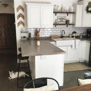 Showing a different angle of my kitchen today to featurehellip