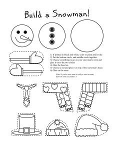 snowman-b-and-w-activity-page