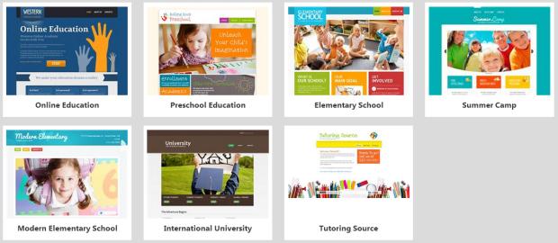 website builder education templates
