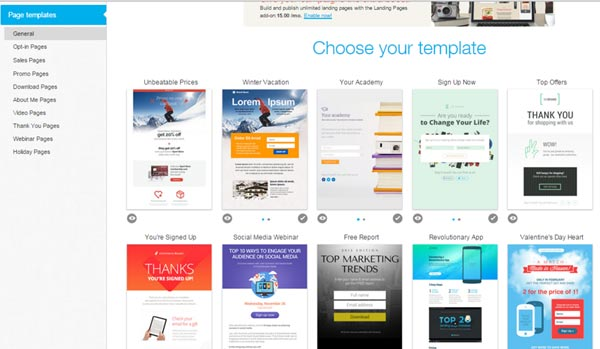 getresponse template gallery