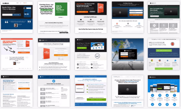 OptimizePress Pre Made Landing Pages