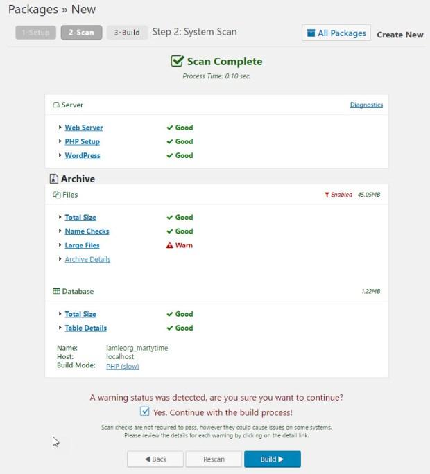 website backup step 2