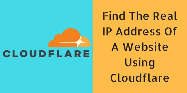 Find The Real IP Address Of A Website Using Cloudflare