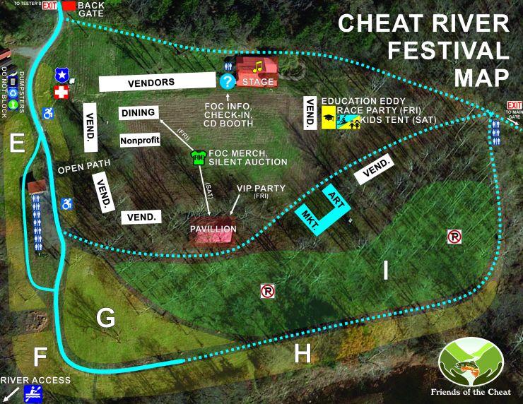 Cheatfest 2018 - festival site parking map