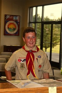 Local scout Jackson Webb addresses Pleasant View Parks and Recreation on September 26, 2016, during their monthly board meeting.