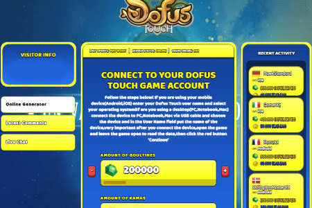 dofus touch hack cheat online generator goultines and kamas unlimited