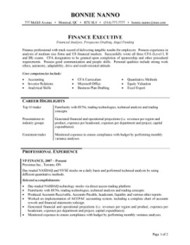 Intermediate/Executive Template 3