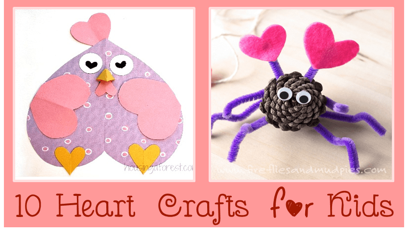 10 heart crafts and art projects