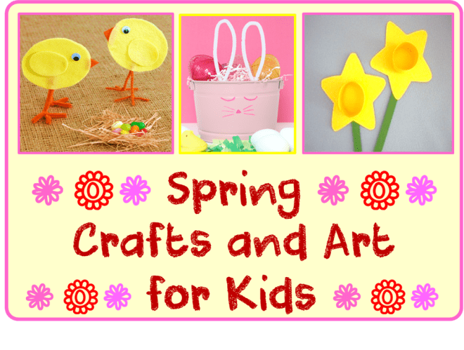 Spring crafts and art for kids cheer and cherry for Cheerleading arts and crafts