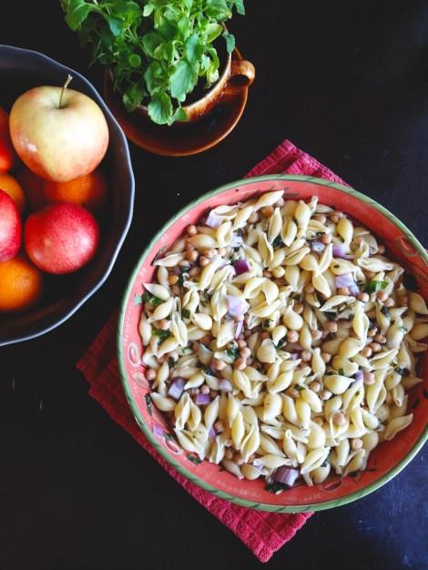 Basil Lemon Pasta Salad via The Cheerful Kitchen