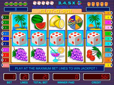 Игровые автоматы Slot-o-pol deluxe выпаден