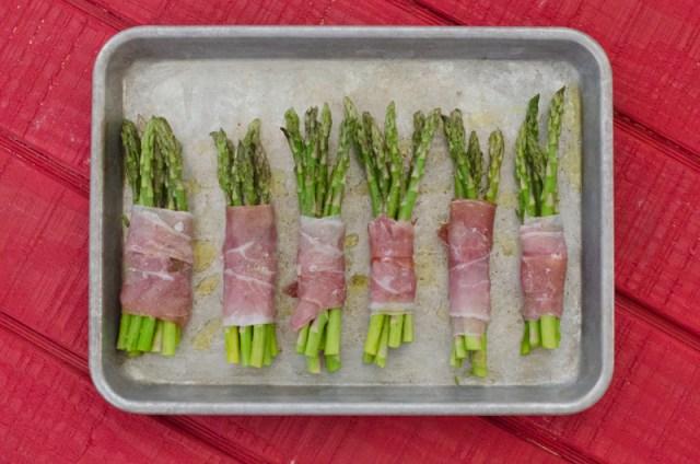 Prosciutto-Wrapped Truffle Asparagus recipe from ChefSarahElizabeth.com