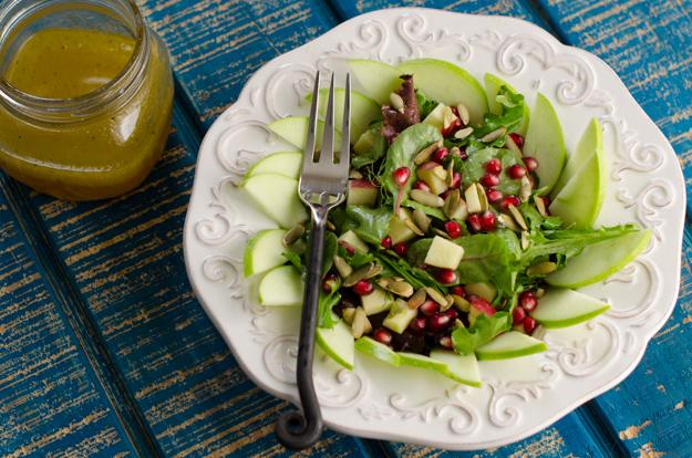 Fall Farmer's Market Salad recipe from ChefSarahElizabeth.com