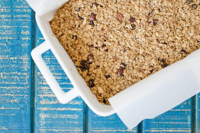 Chewy Granola Bars recipe from ChefSarahElizabeth.com