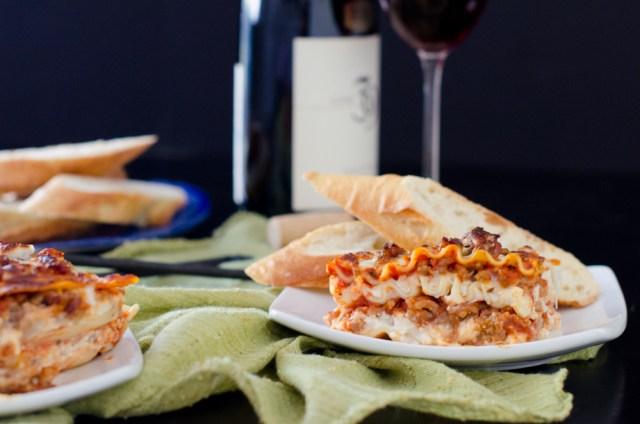 Cheese Attack Lasagna recipe from ChefSarahElizabeth.com
