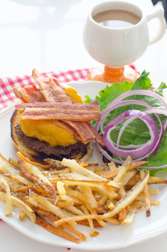 Smashed Cheeseburger from ChefSarahElizabeth.com