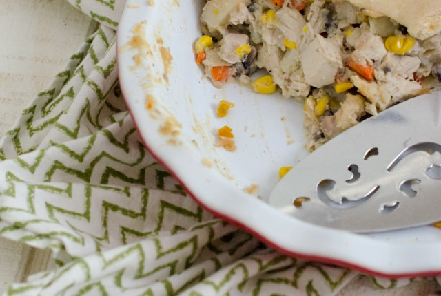 Chicken Pot Pie with Mushroom Gravy recipe from ChefSarahElizabeth.com