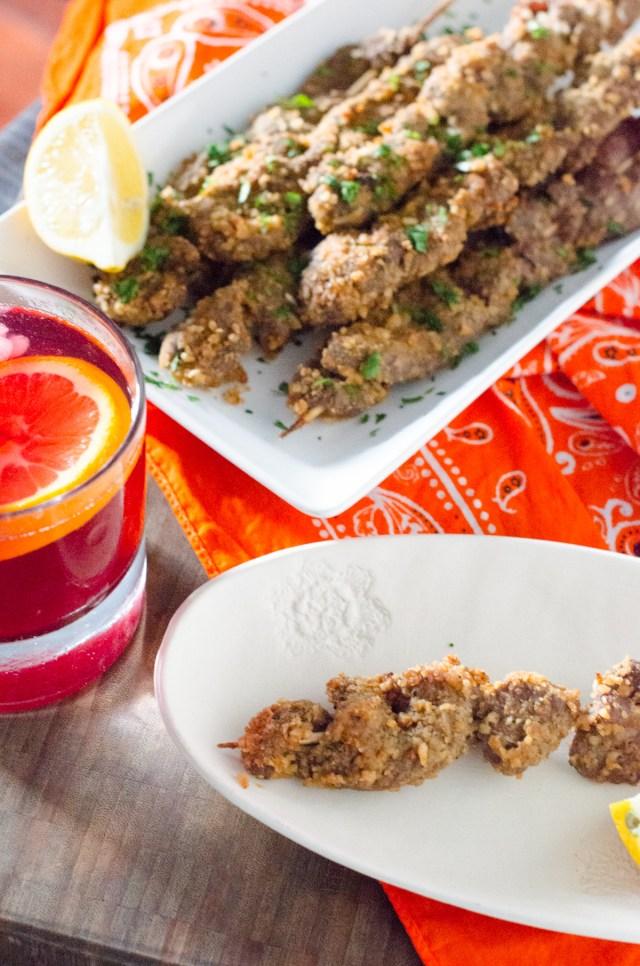 Spicy Beef Skewers from ChefSarahElizabeth.com