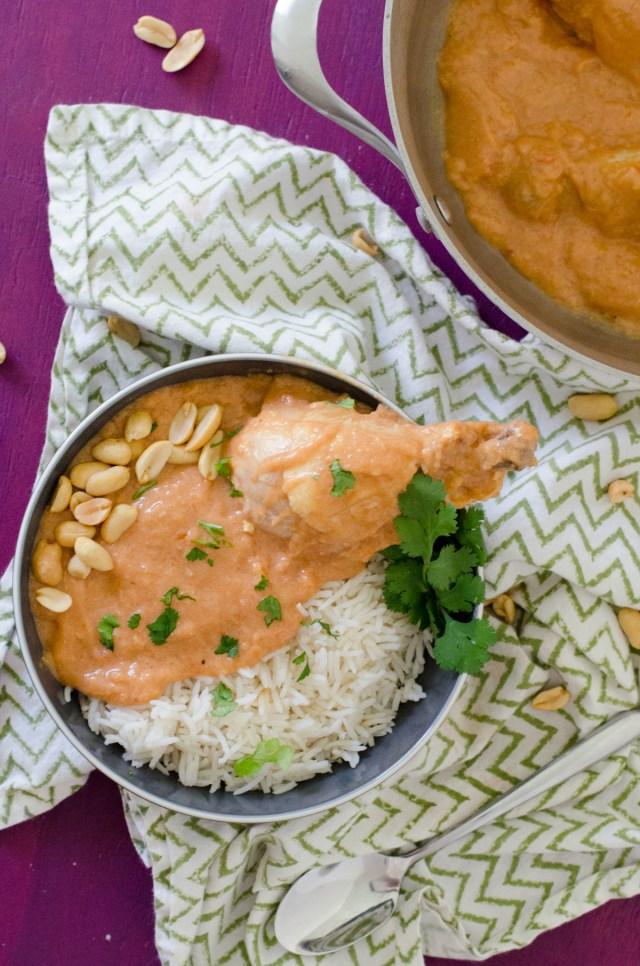 Peanut Chicken Stew from ChefSarahElizabeth.com