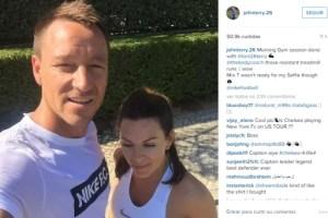 Terry voltou a treinar mesmo nas férias (Foto: Reprodução/Instagram)
