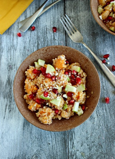 Sweet Potato and Quinoa Salad with a lemon-honey vinagrette