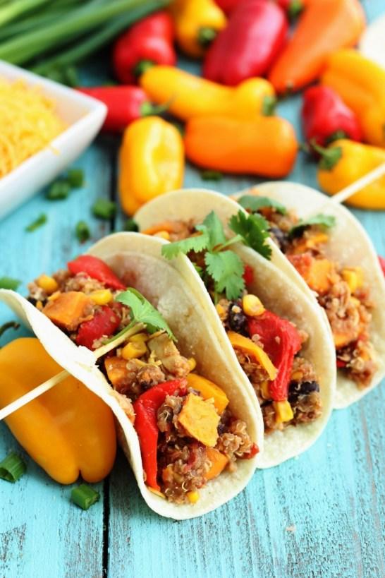 Easy and Healthy Slow Cooker Quinoa Fajitas