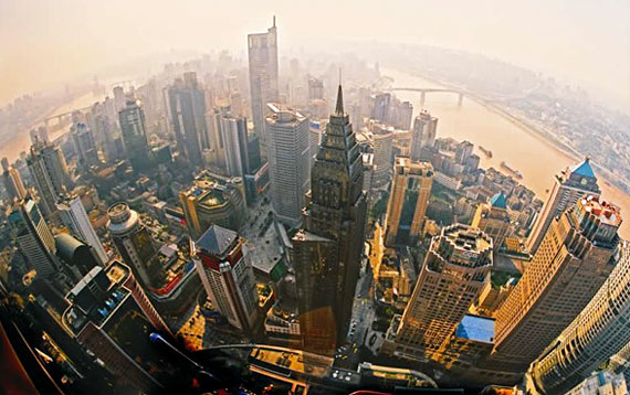 Buildings racing for the sky in Chongqing