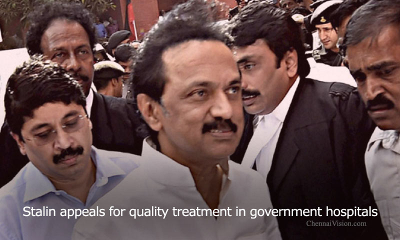 Stalin appeals for quality treatment in government hospitals