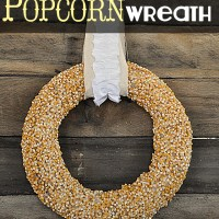 Popcorn Kernel Wreath Tutorial