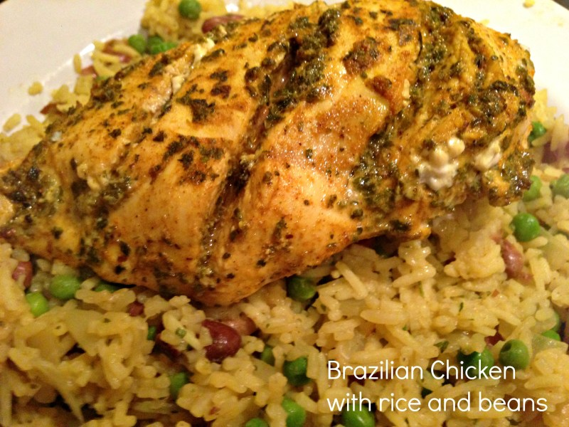 Brazilian Chicken with rice and beans