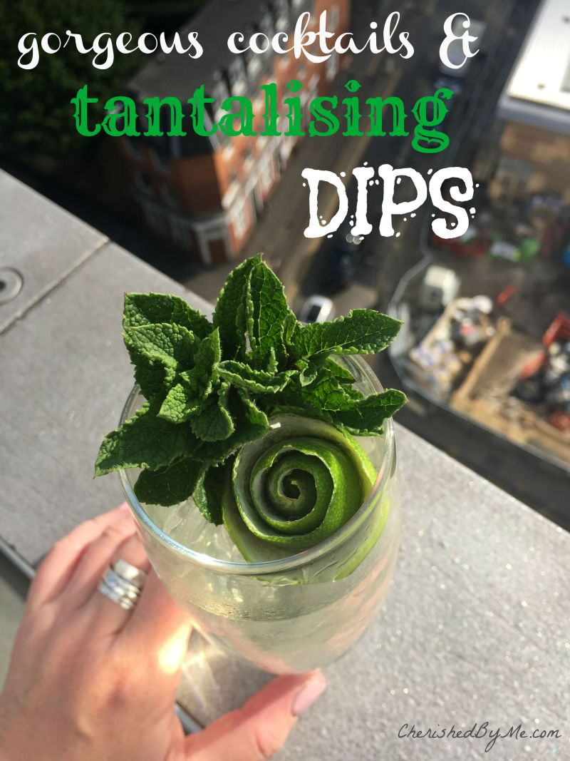 An amazing Pea and Dill GNT Cocktail, yes really!
