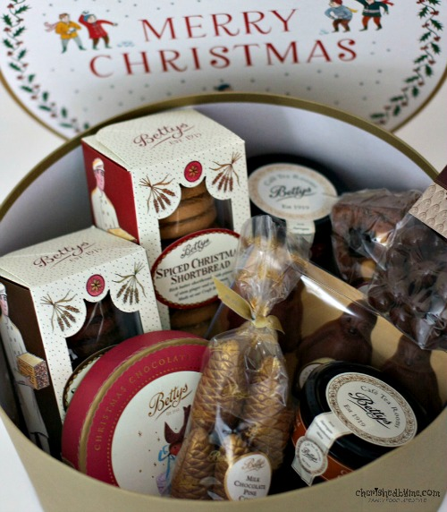 Make someone smile this Christmas, give them a Bettys' Christmas Hat Box hamper- Cherished By Me