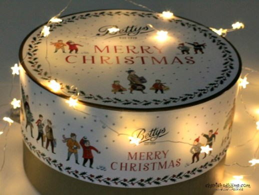 The Christmas Hat Box hamper full of edible goodies from Bettys- Cherished By Me