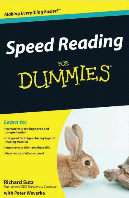 Speed Reading For Dummies by Richard Sutz