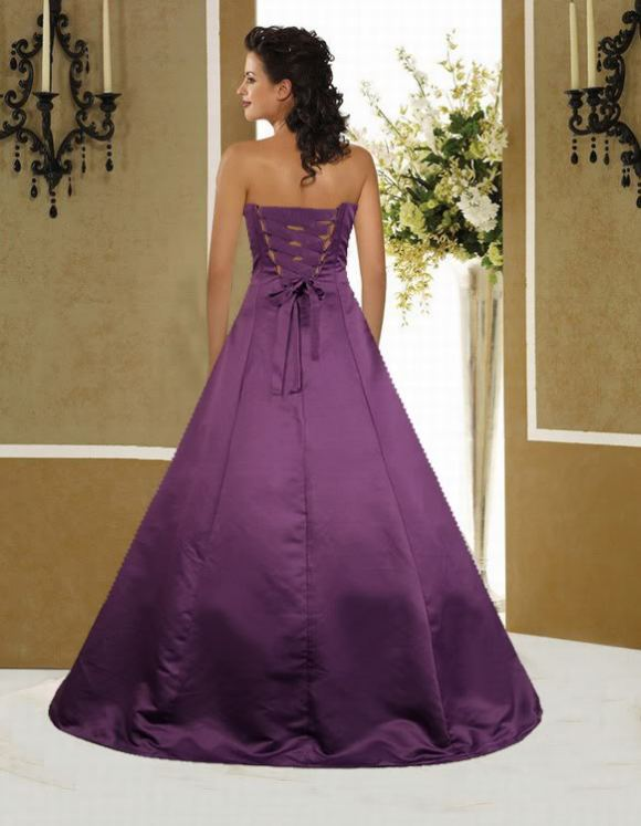 Beautiful Photos Of Dark Purple Wedding Dresses