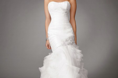 white mermaid wedding dresses