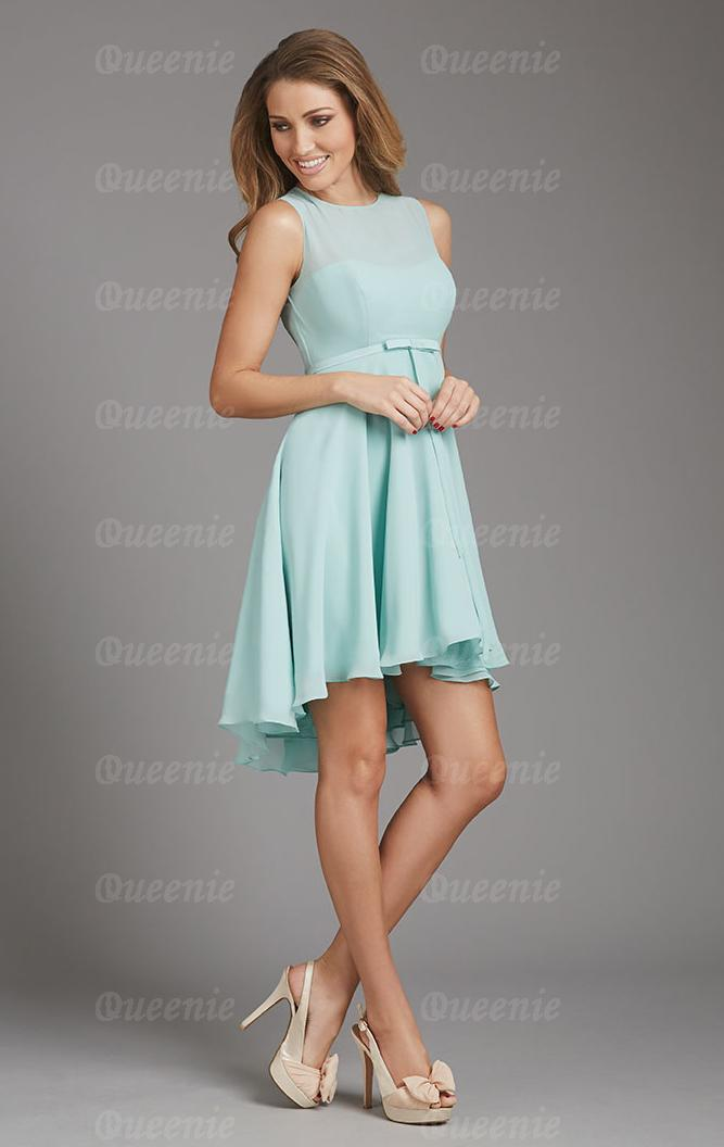 Light blue bridesmaid dress cherrymarry for Pale blue dress for wedding