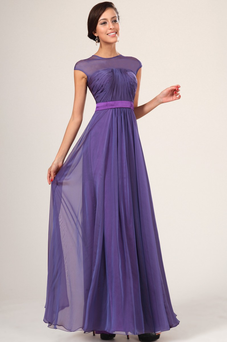 Purple Bridesmaid Dresses With Sleevescherry Marry