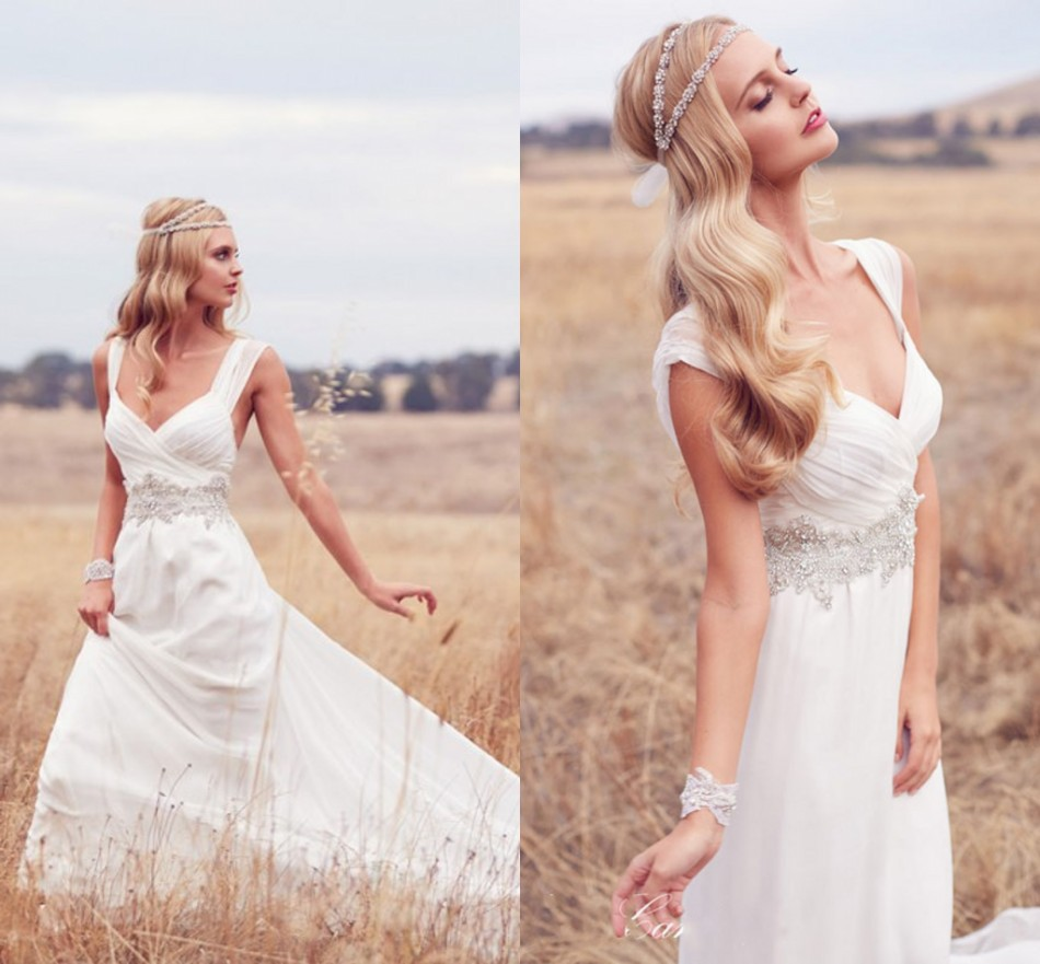Simple country wedding dress cherrymarry for Rustic country wedding dresses