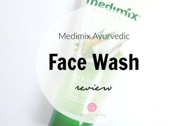 Medimix Ayurvedic Facewash Review| cherryontopblog.com