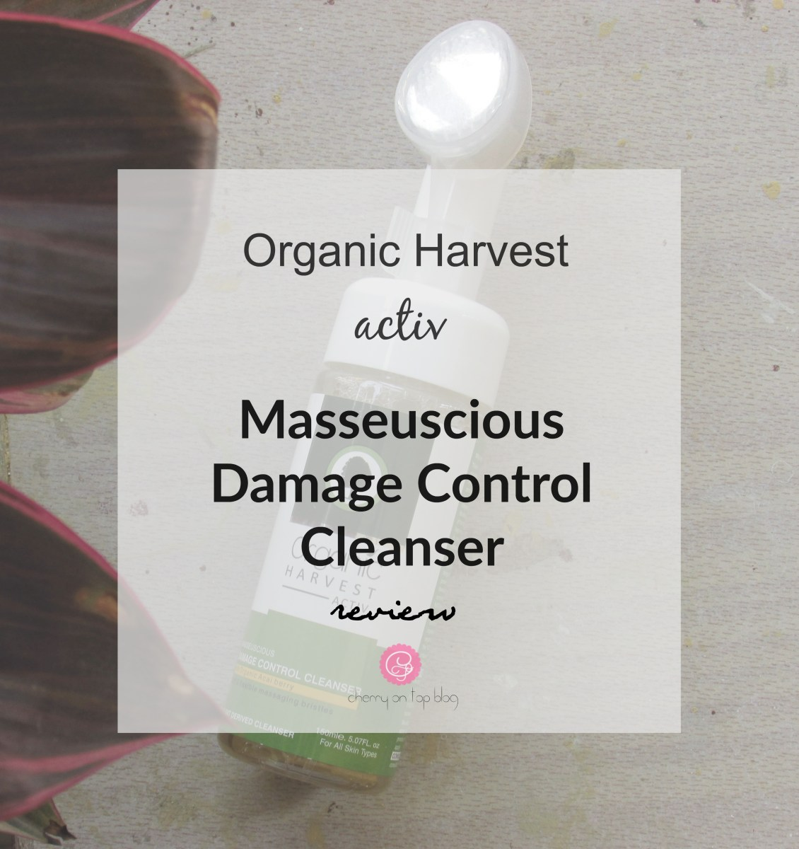 Organic Harvest Masseuscious Damage Control Cleanser| Review