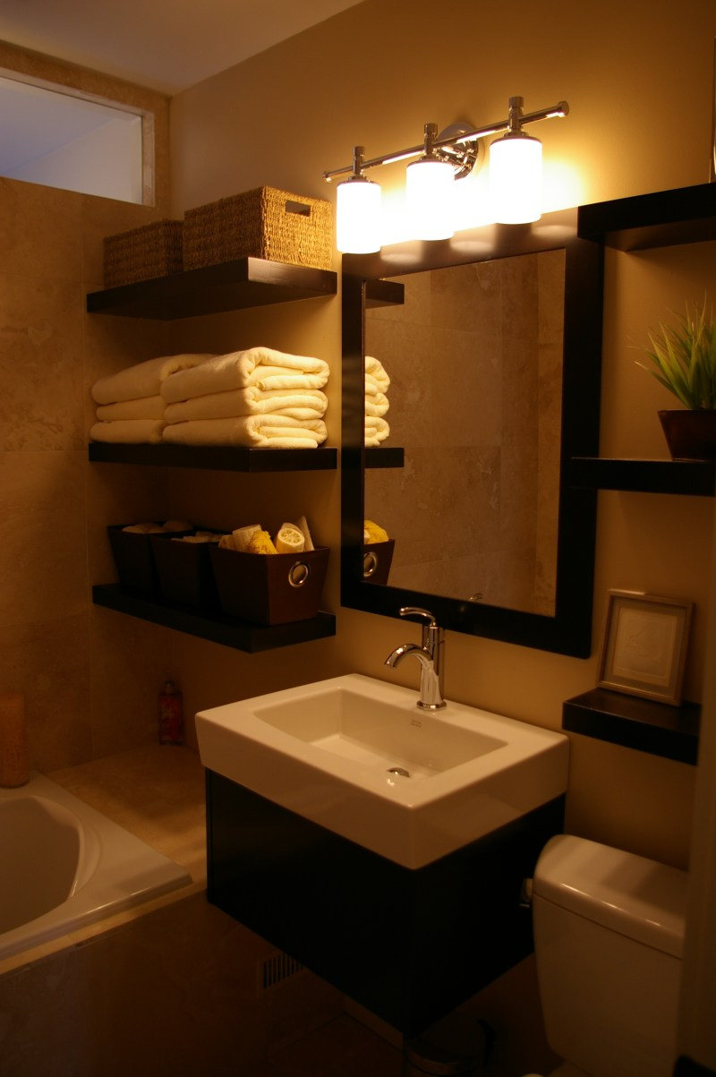 Large Of Hanging Wall Shelves For Bathroom
