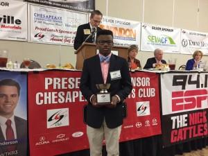 Photo by Adam Winkler - Chesapeake Sports Club, Chesapeake Public Schools Stellar Student Athlete