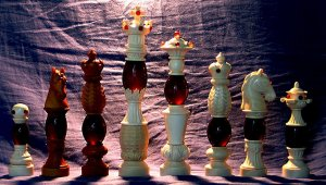 Baroque Amber Chessmen