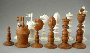 Antique Vizagapatam Chess Set