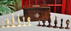 Antique Washington Style English Chessmen