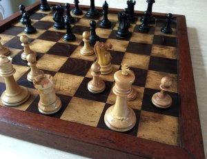 Jaques Library Staunton Chessmen