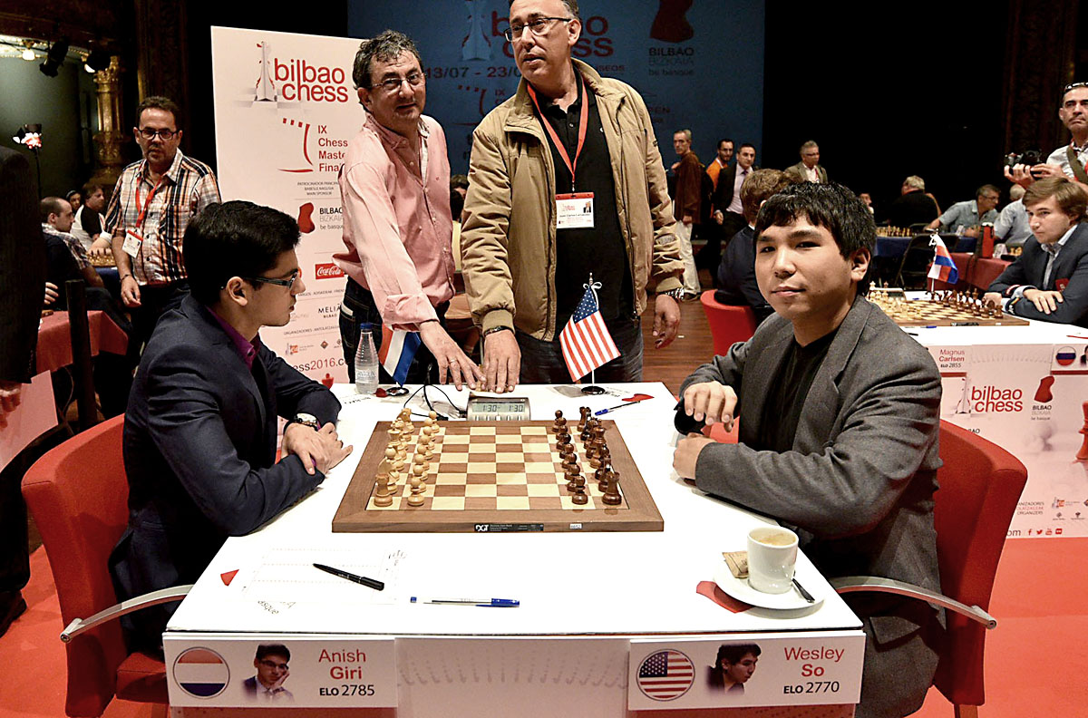 Wesley So Beats Anish Giri in Round 8 Bilbao Masters Final 2016