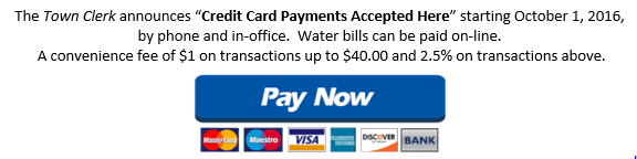 We accept Credit Cards!