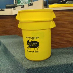 Sharon Hill will soon begin a recycling program with these borough-issued containers.
